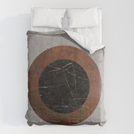 Concrete, Rusted Iron, and Black Marble Abstract Comforters