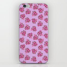 Bright Vintage Floral in Pink iPhone Skin