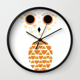 Owls Just Want to Have Fun No.4 Wall Clock