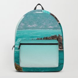 Even in the summer this lake looks like a frozen glass. Backpack