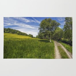 Old Summer Country Road Rug