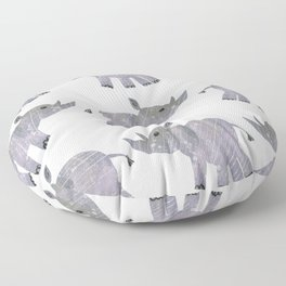 African Black Rhino multi-color purplegray Floor Pillow