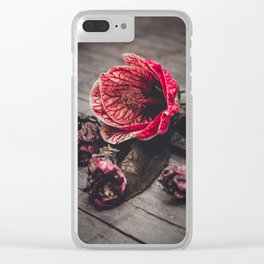 """Abutilon Decay """"Red Tiger"""" Clear iPhone Case"""
