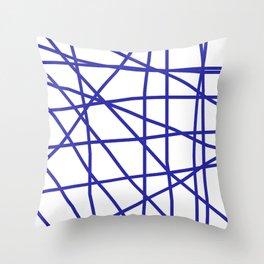 Doodle (Navy Blue & White) Throw Pillow