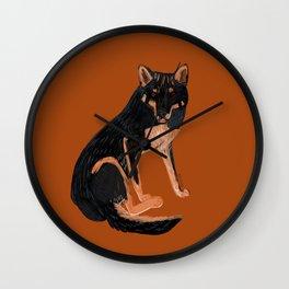 Black dingo (c) 2017 Wall Clock