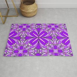 Purple Stained Glass Rug