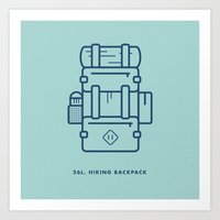 Hiking Backpack Art Print