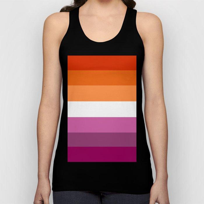 Lesbian Pride Flag Unisex Tank Top
