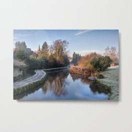 Loose Mill Pond Metal Print
