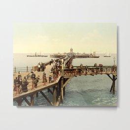 1890 Victorian Jetty in Margate Kent Metal Print