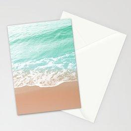 Soft Emerald Beige Ocean Beauty Dream #1 #wall #decor #art #society6 Stationery Cards