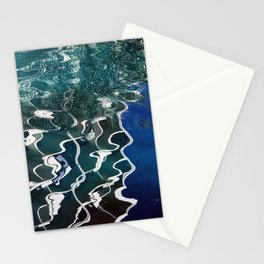 Abstract Lyrical Pond Waters Stationery Cards