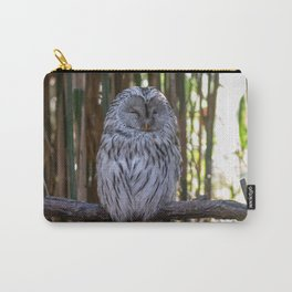 Ural owl resting on a branch Carry-All Pouch