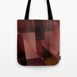 Sunburnt Red Orange - Digital Geometric Texture Tote Bag