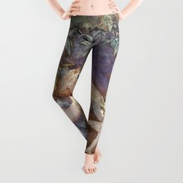 """""""Little Girl With a Fairy"""" by Beatrice Goldsmith Leggings"""