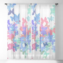 Butterfly Migration  Sheer Curtain