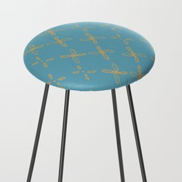 Abstract Astral Pattern Counter Stool