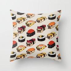 Sushi Pug Throw Pillow