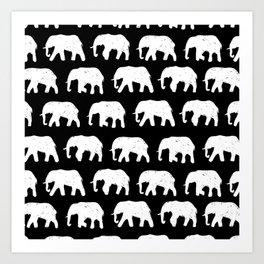 White Elephants on Parade Art Print