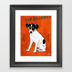 Dog: Rat Terrier Framed Art Print