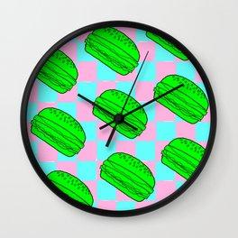 Flying Cheeseburgers Wall Clock