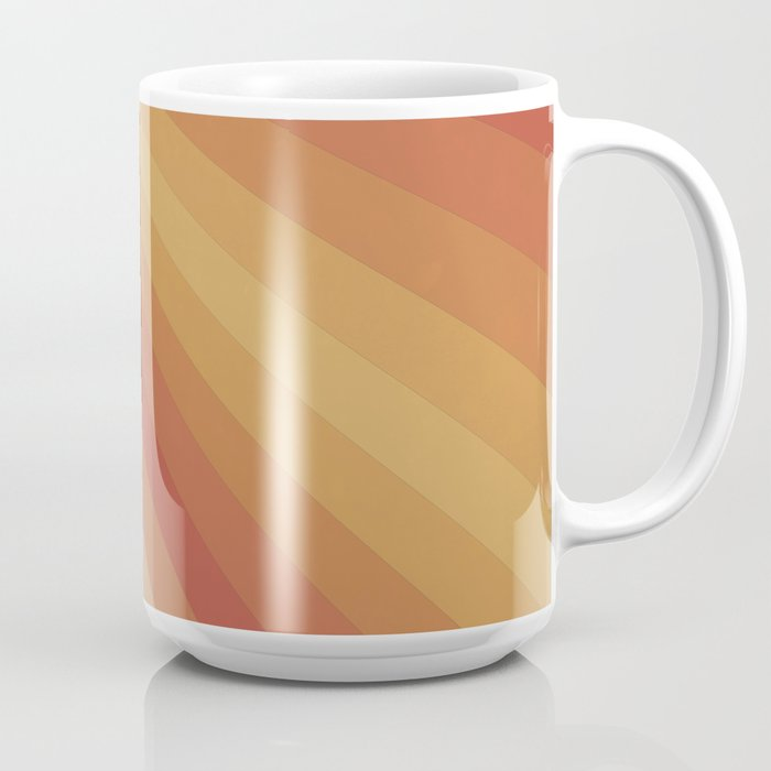 Retro 70s Sunrays Coffee Mug