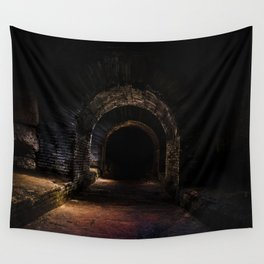 In the dark tunnel Wall Tapestry
