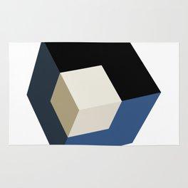 3D effect cube Rug