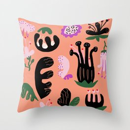 childish floral Throw Pillow