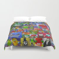 sloths Duvet Covers featuring sloths by Cathy Jacobs