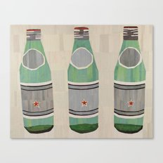 green glass bottles Canvas Print