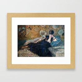 Edouard Manet 1873 - Lady with Fans (La Dame aux Eventails) Framed Art Print