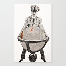 Charles chaplin the great dictator Canvas Print