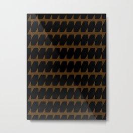 Black & Tan Dog Tooth Design Metal Print