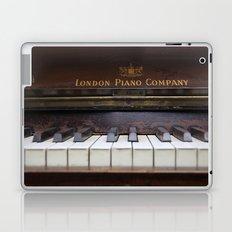 Piano keys Old antique vintage music instrument Laptop & iPad Skin