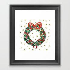 Christmas Wreath II Framed Art Print