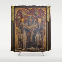 Classical Masterpiece Church Mural by John Singer Sargent Shower Curtain
