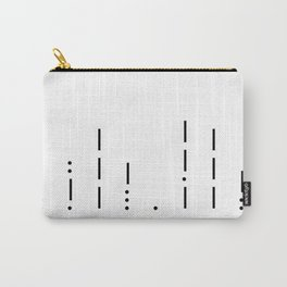 I love you Morse Code Carry-All Pouch