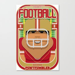 American Football Red and Gold - Enzone Puntfumbler - Seba version Canvas Print