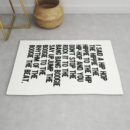 RAPPERS DELIGHT Hip Hop CLASSIC MUSIC Rug