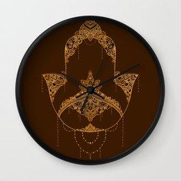 Autumn Hamsa Wall Clock