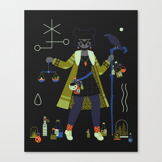 Witch Series: Potions Canvas Print