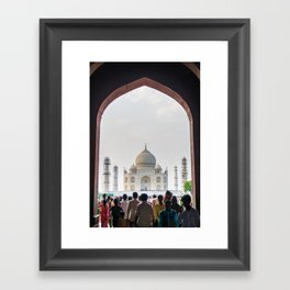 Entering the Taj Mahal Framed Art Print