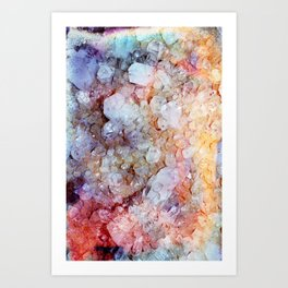 Painted Crystal Art Print