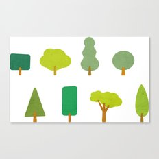 Trees and shapes Canvas Print