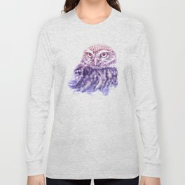 OWL SUPERIMPOSED WATERCOLOR Long Sleeve T-shirt
