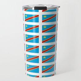 Flag of drc-rdc,congo,congolese,congolais,congolaise,kinshasa Travel Mug
