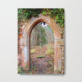 Gate to autumn Metal Print