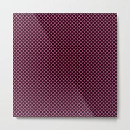 Black and Pink Yarrow Polka Dots Metal Print