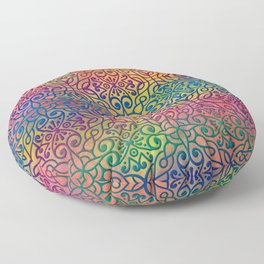 DP050-1 Colorful Moroccan pattern Floor Pillow